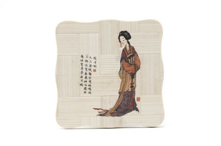 Japanese painting on wooden tablets  Home and peace of mind  Stock Photo - 17210161