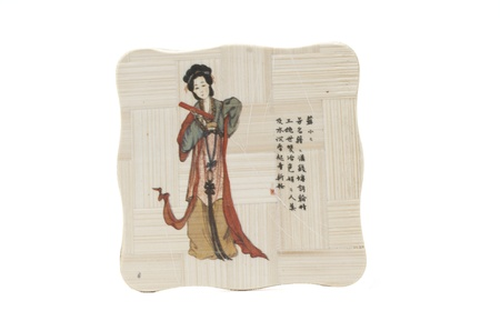 Japanese painting on wooden tablets  Home and peace of mind Stock Photo - 17210150
