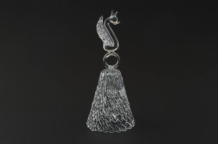 Crystal bell from Gzhel, Russia  Made in the form of a Swan  photo