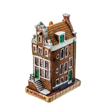 Ceramic toy house on a white background. Stock Photo - 18132609