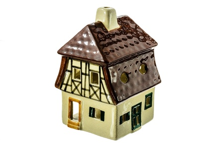 Ceramic toy house on a white background. Stock Photo - 18132644