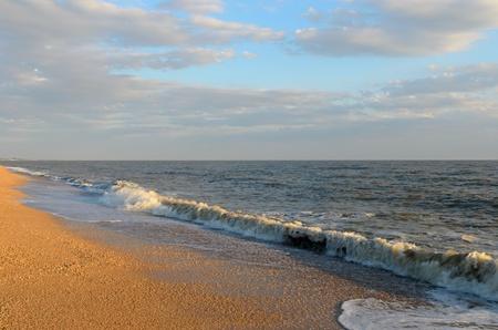 Doljanskaya spit separating the sea of Azov and Taganrog Bay. Stock Photo - 20651250