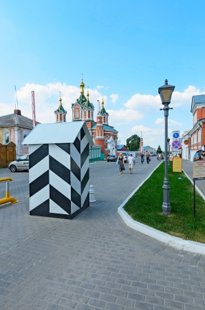 Kolomna, Russia - July 2: the territory of Kolomna Kremlin in action during the travel event in Kolomna on July 2, 2013.