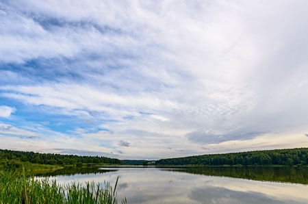 Lake in the vicinity of Sergiev-Posad, Moscow region, Russia. photo