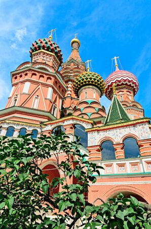 St. Basils Cathedral on red square in Moscow, built in 1554. photo