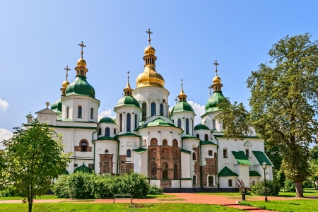 St. Sophia Cathedral, built in the first half of the XI century in the centre of Kiev, Ukraine.