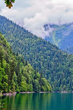abkhazia: Types of Abkhazia, landscapes and subtropical vegetation.