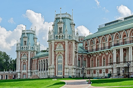 Estate of Tsaritsyno, Moscow, Russia, founded in the early 16th century. Editorial