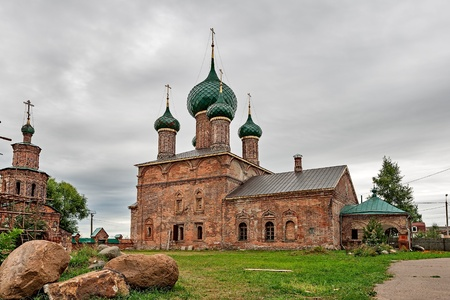 The Golden ring of Russia, the temple complex in Korovniki, founded in the 17th century, the city of Yaroslavl.