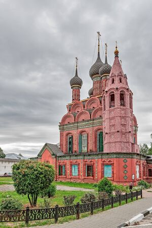 The Golden ring of Russia, the Epiphany Church, founded in the 17th century, the city of Yaroslavl.