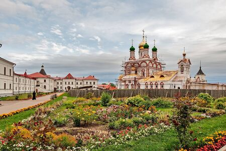 The Golden ring of Russia, a monastery of the Trinity-Sergiev Varnitsky, founded in 1427, city of Rostov Veliky.