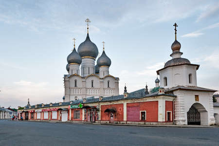 ROSTOV the GREAT, RUSSIA - AUGUST 23: the Walls of the Rostov Kremlin, founded in the 12th century, in the event of the trip to the Golden Ring of Russia, August 23, 2013.