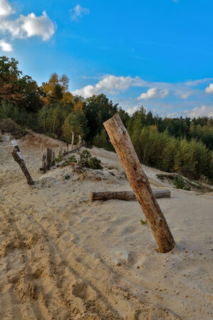 sand quarry: Sand quarry in Lytkarino, Moscow region, Russia. Stock Photo