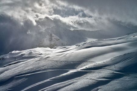 The Central Caucasus, the surroundings of the highest mountain in Europe - Elbrus and Cheget.