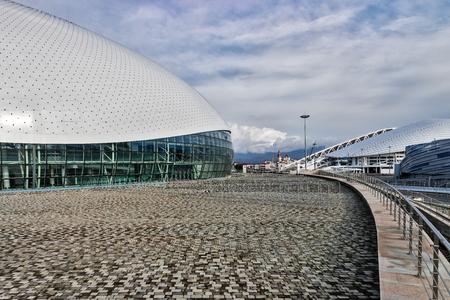 deportes olimpicos: instalaciones deportivas en el Parque Olímpico, Sochi.
