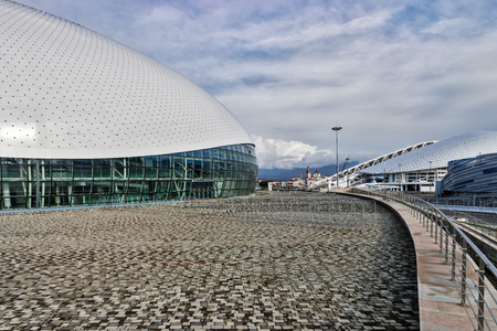 olympic: Sports facilities in the Olympic Park, Sochi.