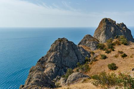 sudak: Landscapes of the Crimea Peninsula, Russia. Stock Photo