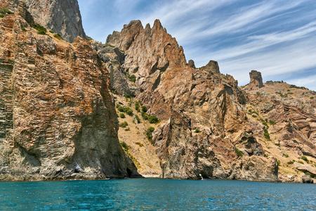 Landscapes of the Crimea Peninsula, Russia. Stock Photo