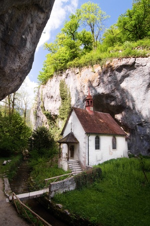 hermitage: A secluded hermitage in a Swiss mountain valley