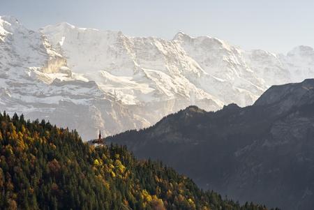 harder: A view on Harder Kulm, above Interlaken.