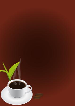 cappucino: Vector illustratie van een cafe menu met koffie Stock Illustratie