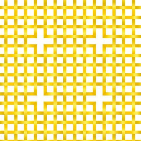 interlaced: Vector illustration of a golden interlaced stripes seamless pattern wallpaper.