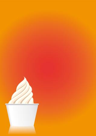 Vector illustration for an ice cream menu