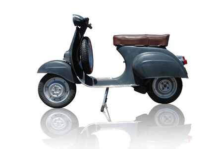 Vintage black vespa scooter. Vector path is included on file.