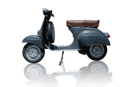 vespa: Vintage black vespa scooter. Vector path is included on file.