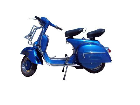 Vintage blue scooter.