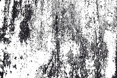 Vector detail of a black and white rusty grunge texture