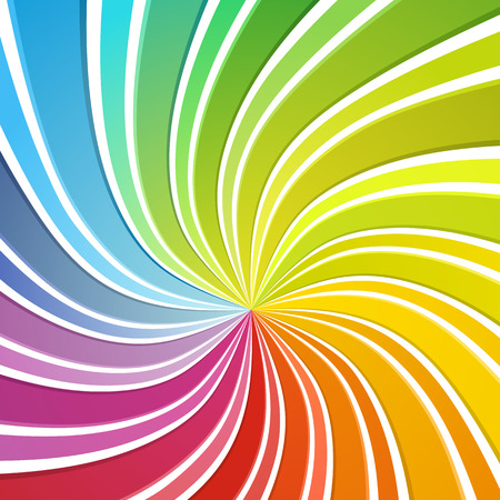 Colorful background. Flowing stripes forming sprectrum colours. Vector