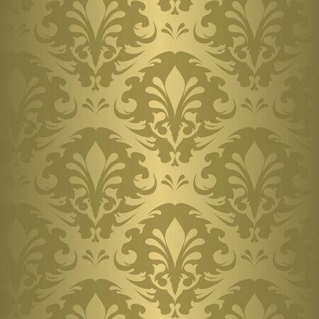 Illustration of a green vintage floral pattern Illustration