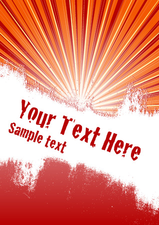 ray: Vector grunge background with copy space for your text
