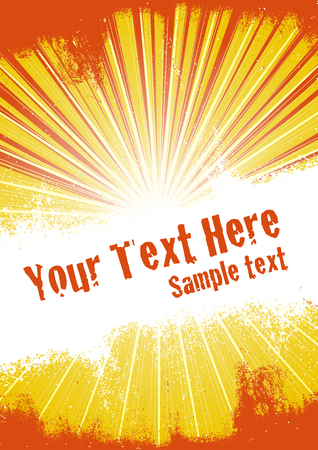 Vector grunge background with copy space for your text. Global Swatches Included. Illustration