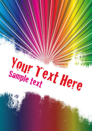 Vector grunge background with copy space for your text. Global Swatches Included. Vector