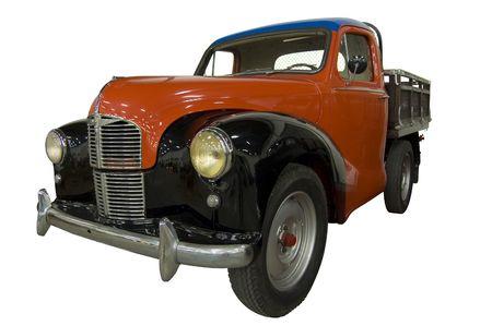 Vintage Restored Truck over White background  Stock Photo
