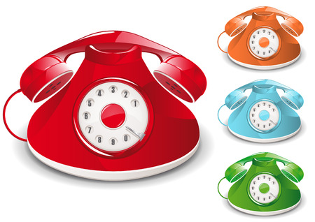 Retro Telephone Illustration (Global Swatches Included) Stock Vector - 4882523