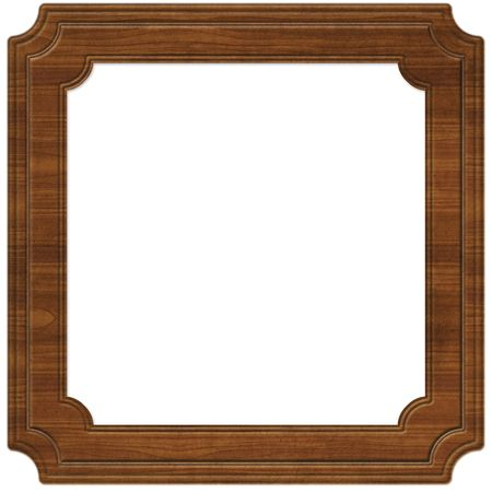 Wooden frame illustration (path included)