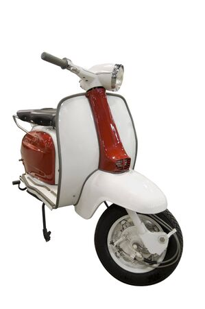 Vintage red and white scooter. Vector is included on file. Stock Photo - 5055759