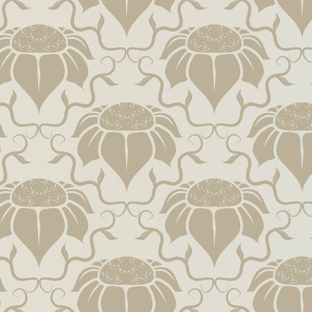Illustration of a neutral vintage floral pattern Vector