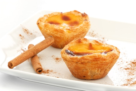Typical Portuguese custard pies   Pastel de Nata  or  Pastel de Belem