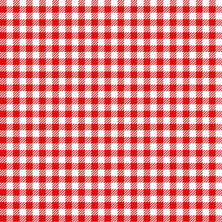 beer garden: red and white checked tablecloth pattern checkered picnic
