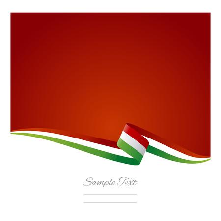 ruban blanc: R�sum� de fond de couleur drapeau italien Illustration