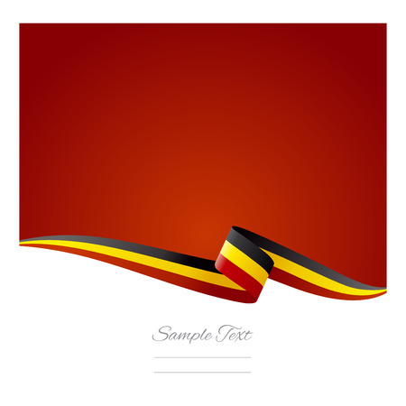 Abstract color background Belgian flag Vector