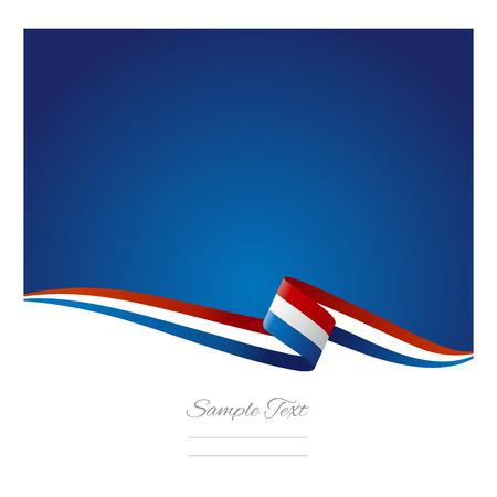 Abstraktní barevné pozadí Nizozemsko flag Ilustrace