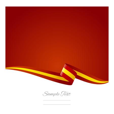 Abstracte kleur achtergrond Spaanse vlag Stock Illustratie