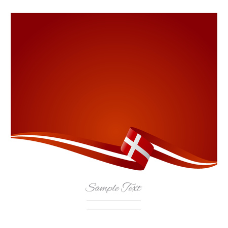 Abstract color background Denmark flag Vector