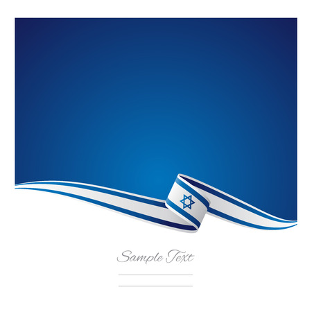 Abstract color background Israeli flag Vector