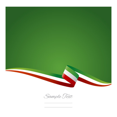 Abstract color background Mexican flag Vector